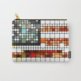 Retro Abstract American Flag Carry-All Pouch