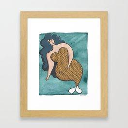 Glamour Mermaid Framed Art Print