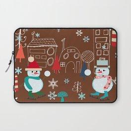 winter fun brown Laptop Sleeve