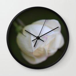 White rosebud Wall Clock