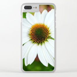 White Coneflower Clear iPhone Case