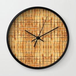 Palest Orange Plaid Wall Clock