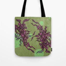 Waves #3 green Tote Bag