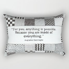 Made of Everything Rectangular Pillow