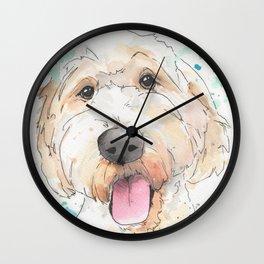 Labradoodle Original Artwork Wall Clock