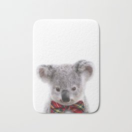 Baby Koala With Bow Tie, Baby Animals Art Print By Synplus Bath Mat