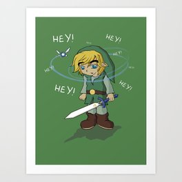 The Legend of HEY! Art Print