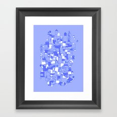 Floating Village Framed Art Print