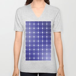 In charge / 3D render of solar panel texture Unisex V-Neck