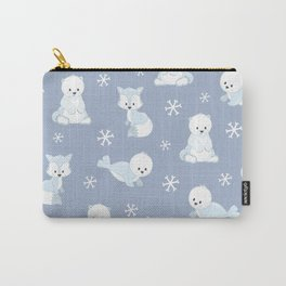 ARCTIC FRIENDS (blue) Carry-All Pouch