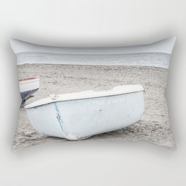 Lonely boats at the beach Rectangular Pillow
