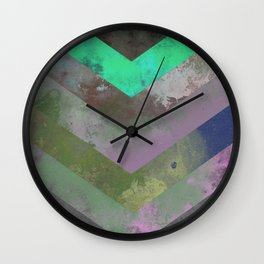 Look Down (Abstract, pastel, geometric artwork) Wall Clock