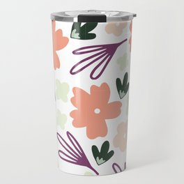 Muted Spring Floral Colors, Seamless Pattern, Fun Pattern, Spring Designs, Floral Design Travel Mug