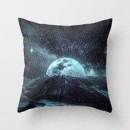 Peek a Moon Throw Pillow