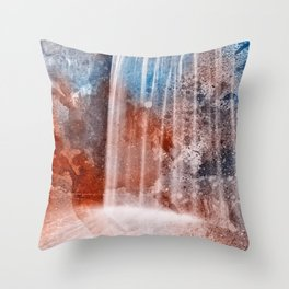Acrylic Urbex Falls Throw Pillow