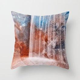 Acrylic Urbex Falls Throw Pillow
