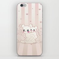 kawaii iPhone & iPod Skins featuring Kawaii by Lily Art