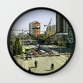 Life in Peking (Cartoon-Art) Wall Clock