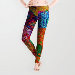 Born into a Very Different World Leggings