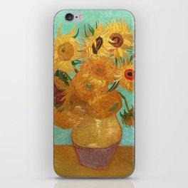 Vincent Van Gogh Twelve Sunflowers In A Vase iPhone Skin