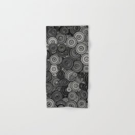 Heavy iron / 3D render of hundreds of heavy weight plates Hand & Bath Towel