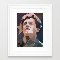 springsteen Framed Art Prints featuring The Boss by Lee_B