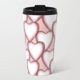 Hearts with lace trim. Travel Mug