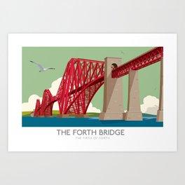 Forth Rail Bridge - Railway poster Art Print