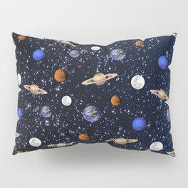 Moon and planets pattern Pillow Sham