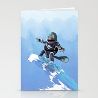 squirtle Stationery Cards featuring WATERBENDING SQUIRTLE by DROIDMONKEY