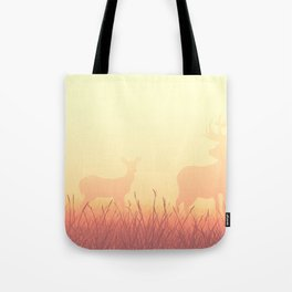 sunset in the meadow Tote Bag