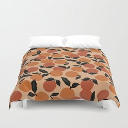 Seamless Citrus Pattern / Oranges Duvet Cover