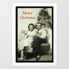 Merry Christmas from us to you, from past to present Art Print