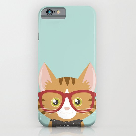 Orange Tabby Hipster Cat iPhone & iPod Case