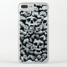 Wall of Remains B'n'W Clear iPhone Case