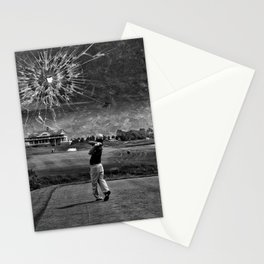 Broken Glass Sky - Black and White Version Stationery Cards