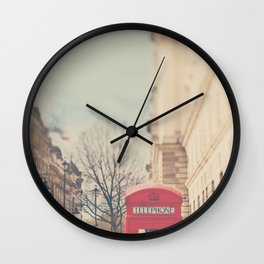 on a city street ...  Wall Clock