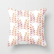 Orange floral pattern 3 Throw Pillow
