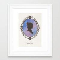 leia Framed Art Prints featuring Leia by JadeJonesArt