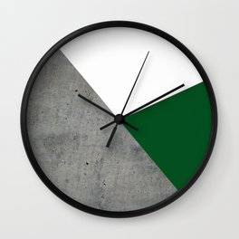 Concrete Festive Green White Wall Clock