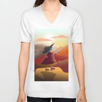 hero V-neck T-shirts featuring Hero by Loezelot