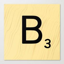 Scrabble B Decor, Scrabble Art, Large Scrabble Prints, Word Art, Accessories, Apparel, Home Decor Canvas Print