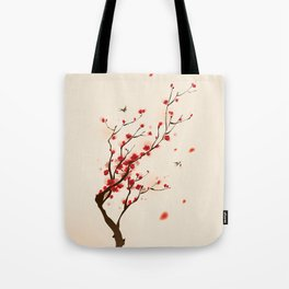 Oriental plum blossom in spring 005 Tote Bag