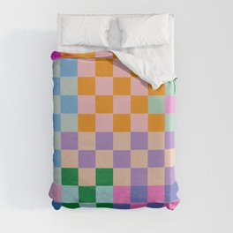 Checkerboard Collage Duvet Cover