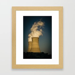 Toxic Towers Framed Art Print