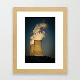 Toxic Towers Framed Art Print