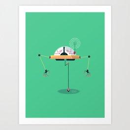 :::Mini Robot-Monopus::: Art Print