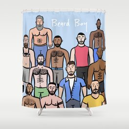 Beard Boys: Boys just wanna have fun! Shower Curtain