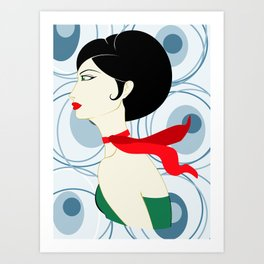 Vintage Barbara Art Print