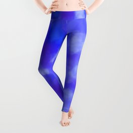 Abstract Clouds - Rich Royal Blue Leggings